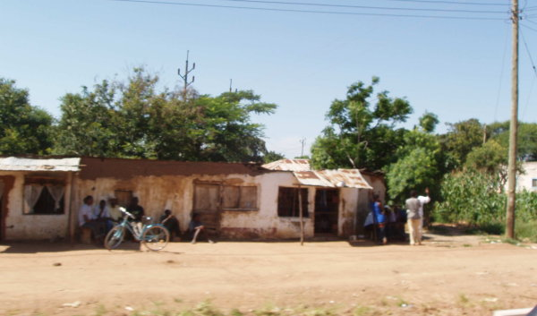 Roadside houses in Tanzania